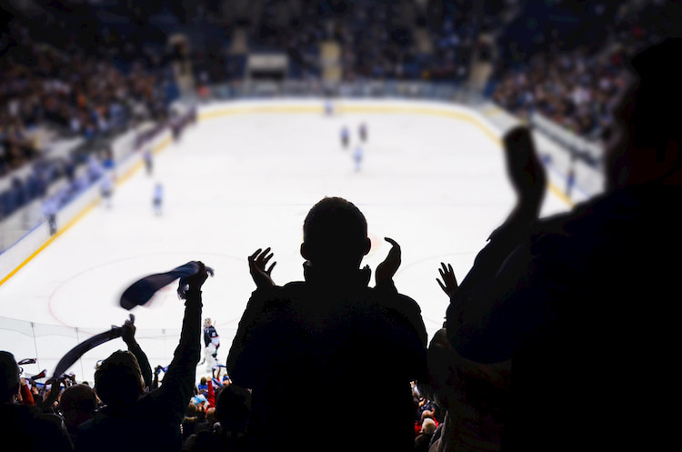 fans cheer for their favorite Toronto hockey team